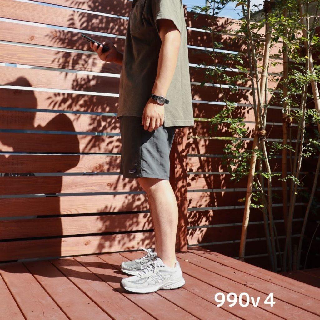 ニューバランス990V4着用写真