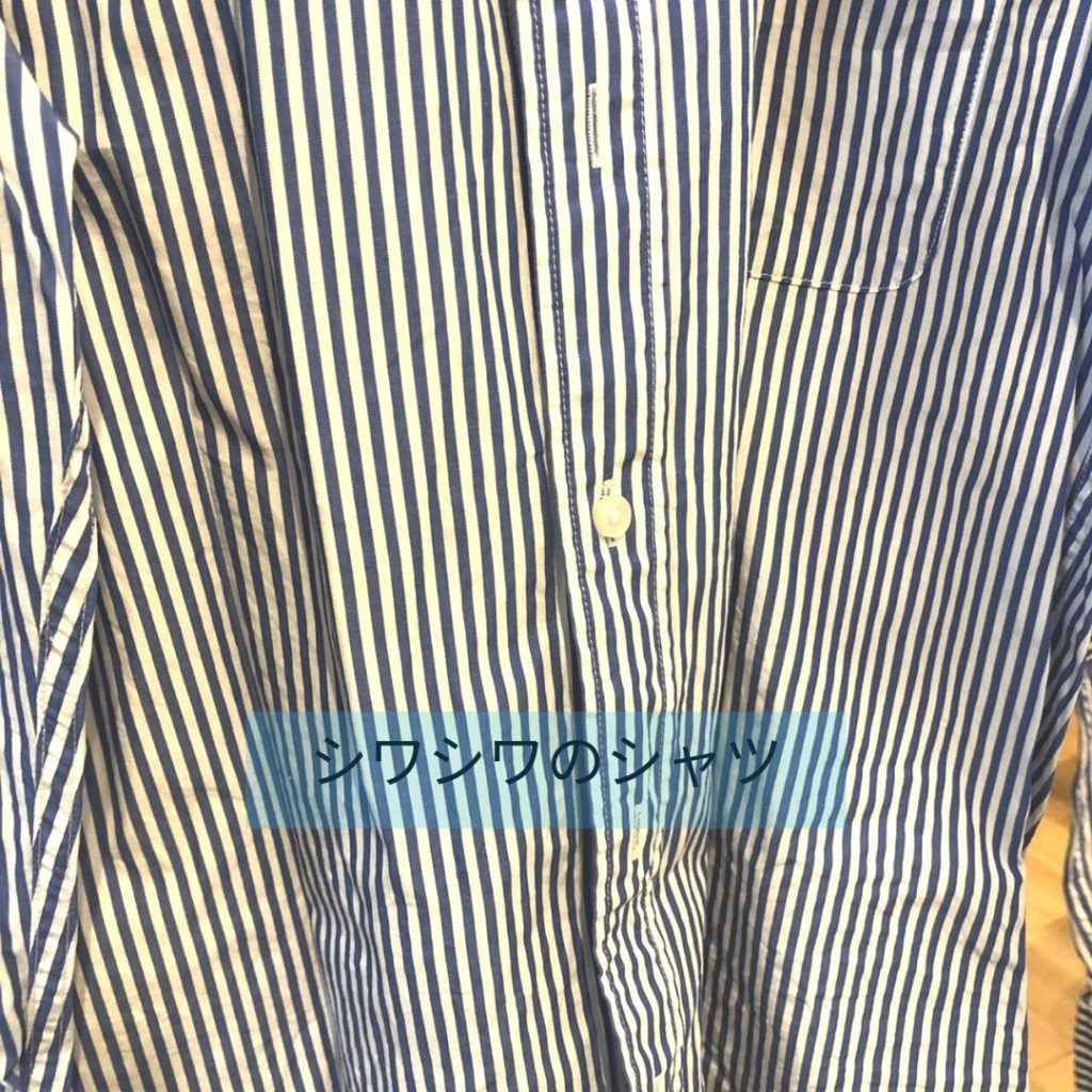 衣類スチーマー使用前シャツ