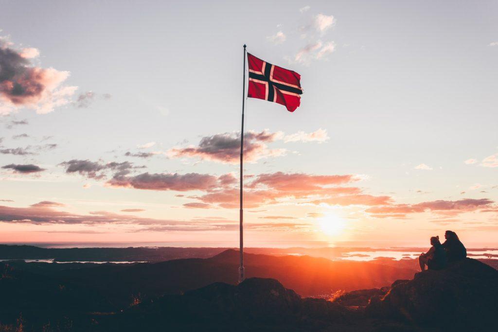 ノルウェー国旗写真